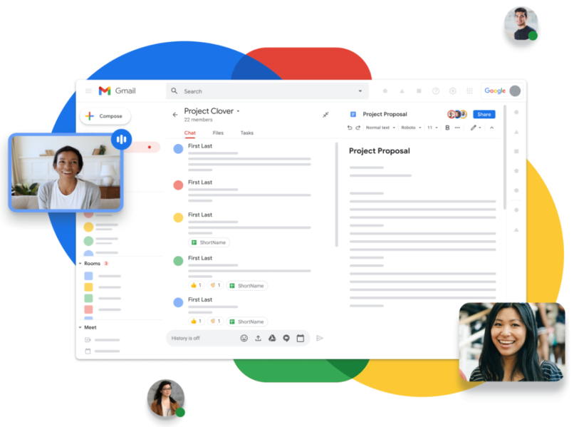 Google Workspace Team Collaboration Screen