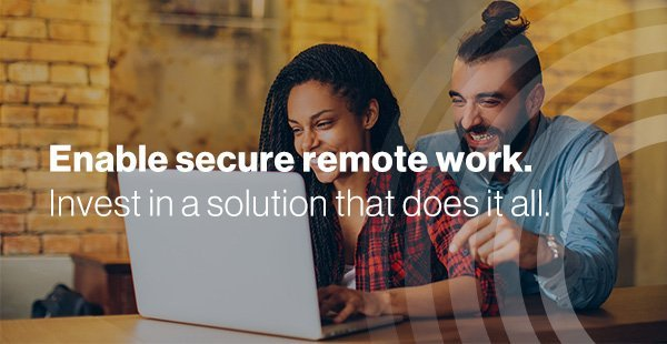Couple remotely working