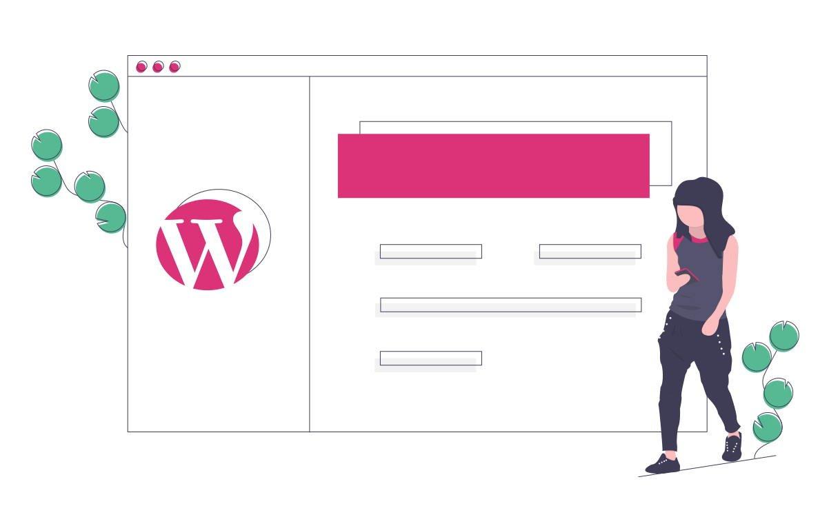 Girl building a website